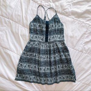 AEO Floral Fit & Flare Mini Dress